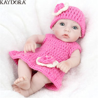KAYDORA Bebe 10Real Girl Reborn Silicone Doll Baby High Quality Children Gift Playing Toys For Kids Birthday Girl