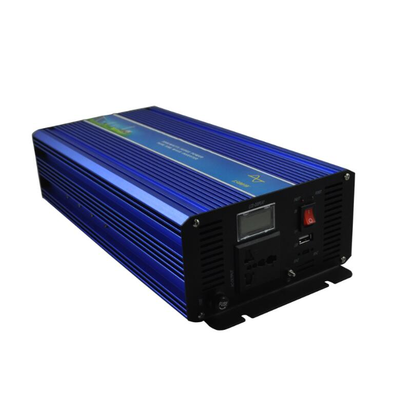 цена на Off grid 3000w Peak power inverter 1500W pure sine wave inverter 12V DC TO 220V 50HZ AC Pure Sine Wave Power Inverter