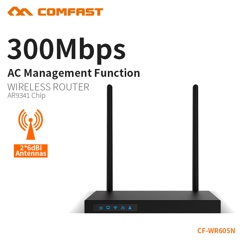 COMFAST Steel Body 300Mbps Router AC/AP Identification Qualcom AR9341 High Power Dual 7dBi Antenna Wireless Router CF-WR605N