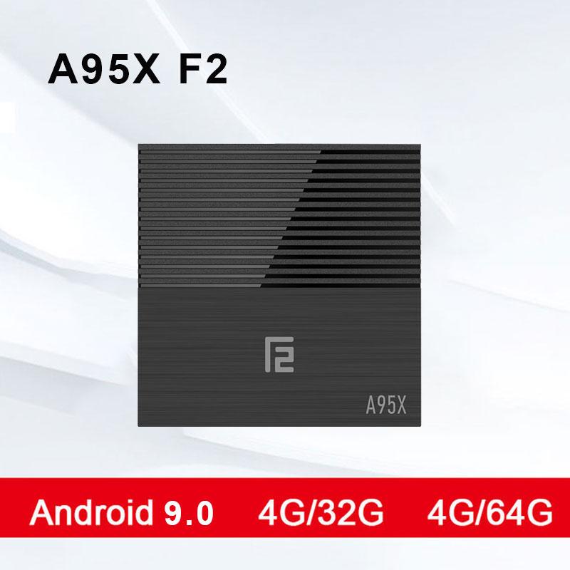 Android TV BOX A95X F2 Android 9.0 lecteur multimédia intelligent 4 K prise en charge 2.4G & 5G double bande WIFI RJ45 LAN USB HDMI optique Smart TV BOX