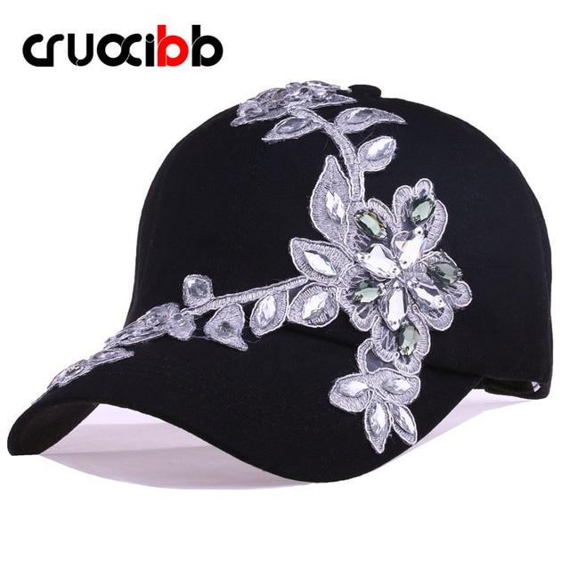 CRUOXIBB 100% Cotton Cap Women Unisex Brand Caps Sequins Solid Casquette Snapback Cap Men's Baseballl Cap Women Hat