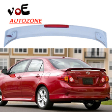 2006-2013 Corolla ABS Plastic Unpainted Primer Rear Wing Spoiler+Light for Toyota Corolla