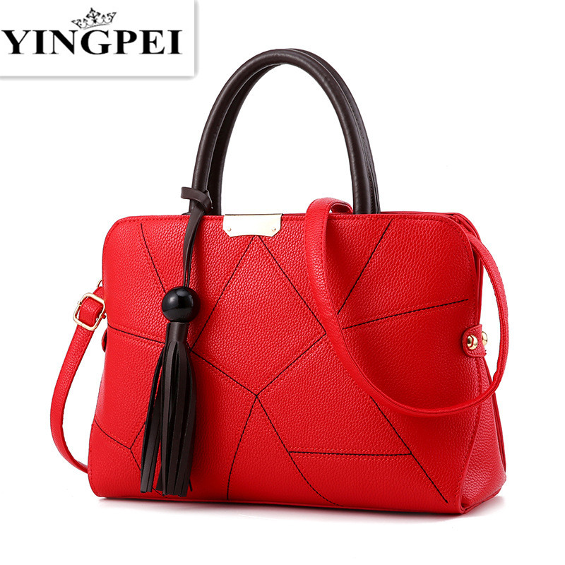 YINGPEI Leather Women Messenger Bags Handbags Woman Famous Brands Shoulder Crossbody Bag High Quality Tote Bag Tassel Gift new genuine leather bags for women famous brand boston messenger bags handbags tassel tote hand bag woman shoulder big bag bolso