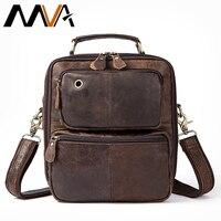 MVA Men S Genuine Leather Messenger Bag Men S Shoulder Bag Vintage Male Leather Bags Flap