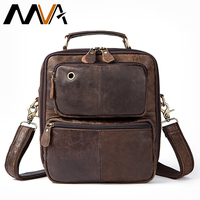 MVA Men S Genuine Leather Messenger Bag Men S Shoulder Bag Vintage Male Leather Bags Flap