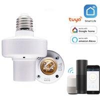 Умная WiFi световая розетка E26/E27 лампочка адаптер приложение дистанционное управление беспроводной Голосовое управление световая лампа бык ...