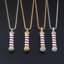 Новая мода Парикмахерская pole 3d цепочка ожерелье хип хоп готическое