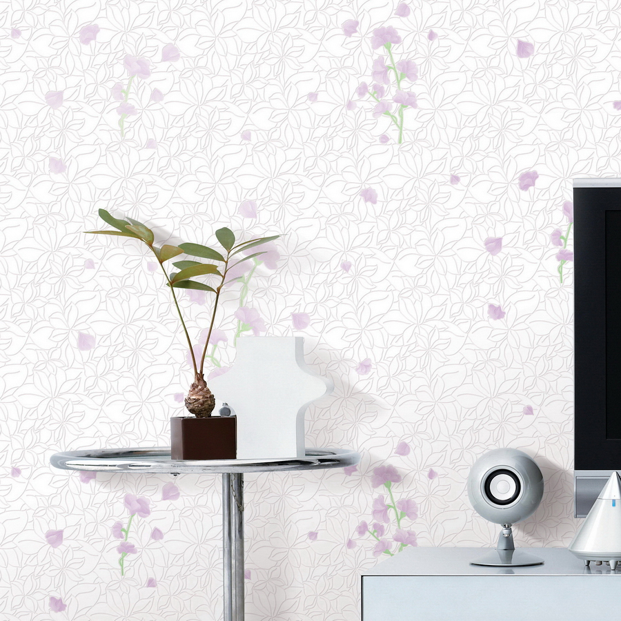 ФОТО Modern Non-woven Wallpaper Roll 3D Foam Embossed Rural Flower Bedroom Living Room Background Home Decor Wall Paper Wall Covering
