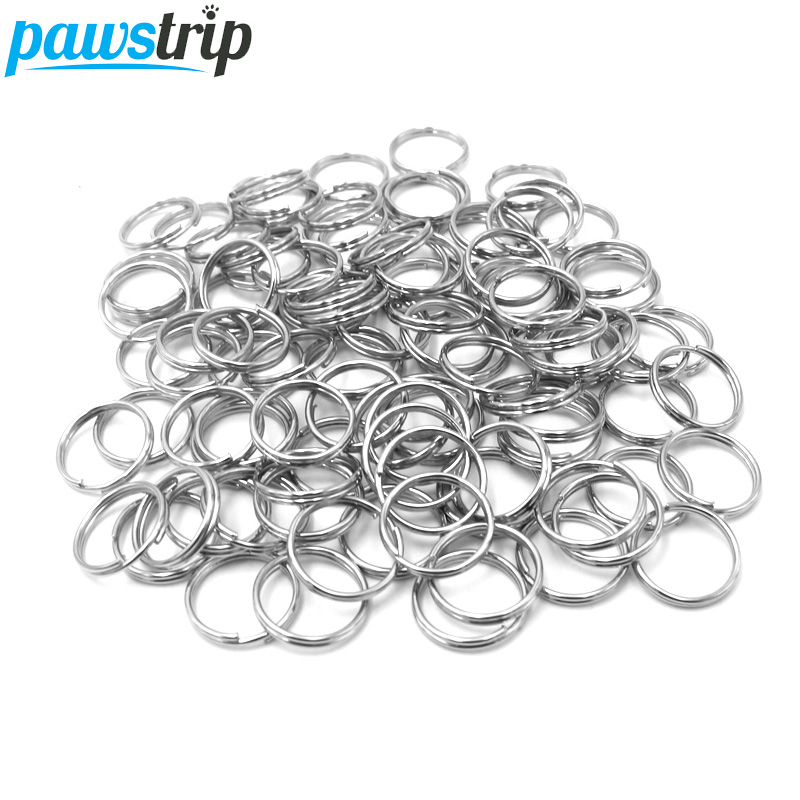 pawstrip 10mm Dog Tag Ring Split Key Rings Round Ring For Dog Tags Collar font b