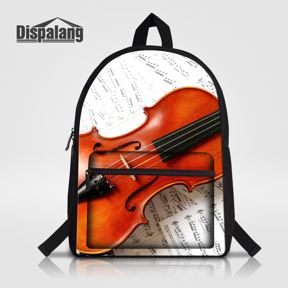Men's Bags Backpacks Dispalang Violin Printing School Backpack Bookbag Mochilas Music Rucksack Personalized Bagpack For Women Children School Bags