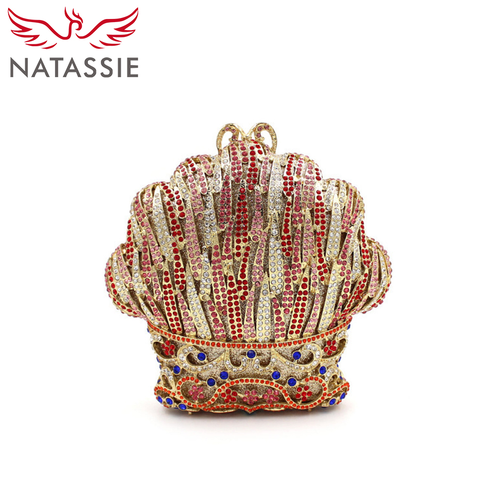 NATASSIE Women Evening Clutch Bags Ladies Wedding Crystal Clutches Female Party Purses natassie women evening bags ladies crystal wedding clutch bag female party clutches purses