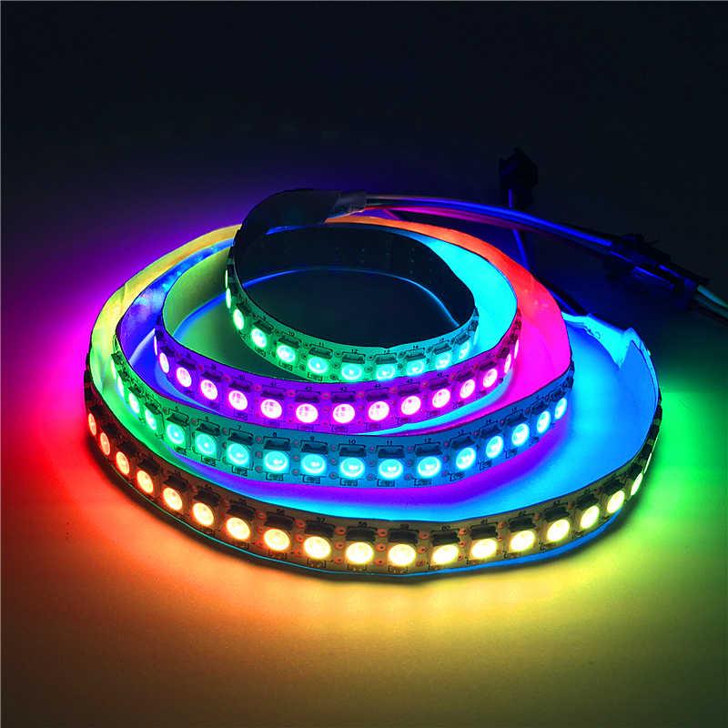 """DC5V WS2812 IC WS2812B Светодиодные ленты с сигналами """"красный-зеленый-синий 5050 полный Цвет 30/60/144 пикселей IC Ditigal индивидуально программируемое перенастраиваемое светодиодное освещение лента"""