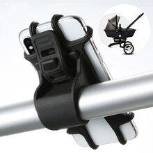 Bracket-Fork Phone-Holder Mount Stroller Baby-Stroller-Accessories Adjustable Pull-Button