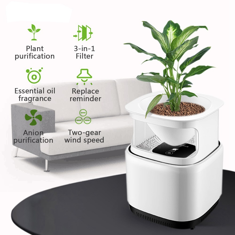 Augienb Micro-ecology Mini Desktop Air Purifier Ionizer With 3-in-1 Filter Ozone Free Fresh Air Negative Ion Aromatherapy