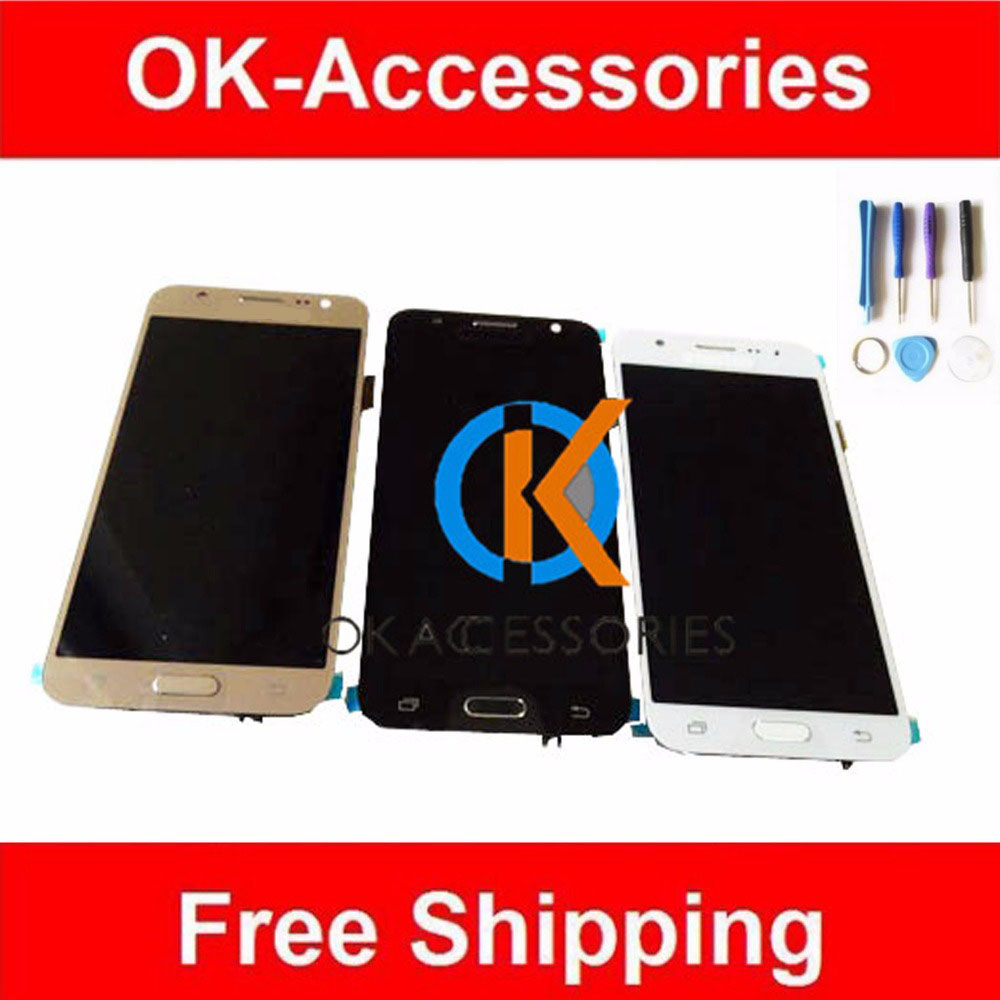 AAA Quality Gold Black White For Samsung galaxy J5 J500 2015 LCD Display+Touch Screen Digitizer With Frame Assembly 1PC/Lot