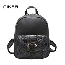 Ciker ретро популярные женщины рюкзак черный pu кожи женщин рюкзаки модные девушки школьные сумки маленькие женские рюкзаки mochilas