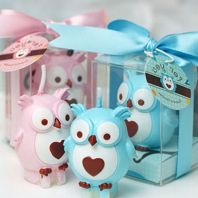 Baby Shower Favors Birthday Part Owl Candle Gifts Wedding Favors And