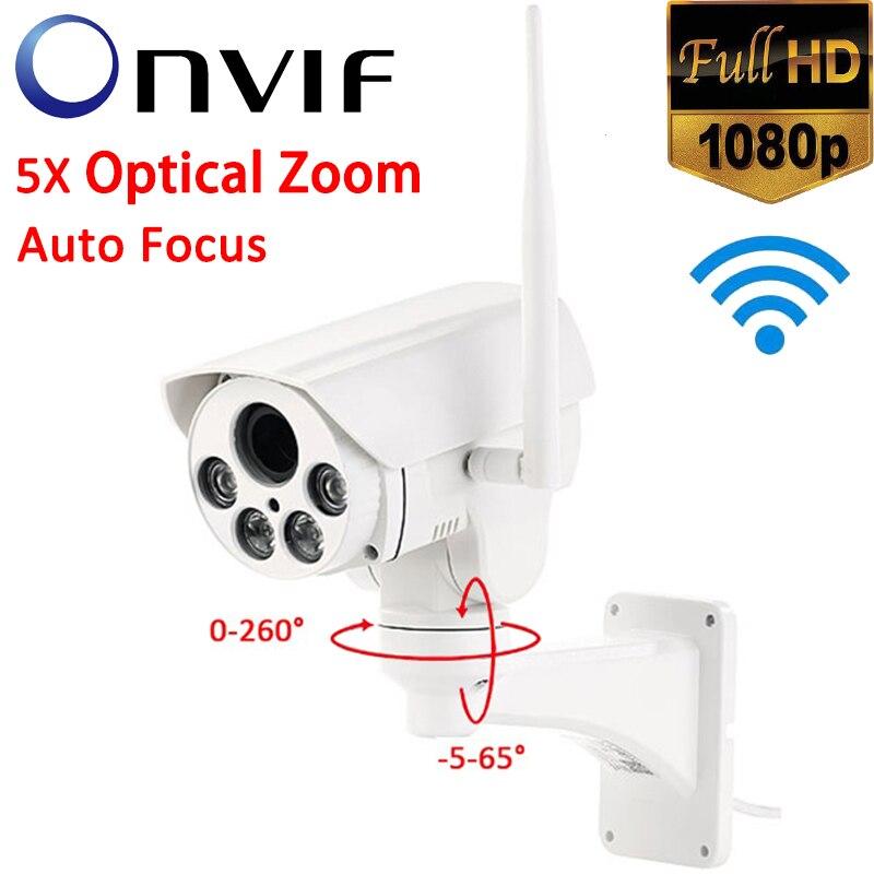 Camhi APP Full HD 1080P Bullet Outdoor 5X Optical Zoom Auto Focus ONVIF Wireless WiFi Security PTZ CameraCamhi APP Full HD 1080P Bullet Outdoor 5X Optical Zoom Auto Focus ONVIF Wireless WiFi Security PTZ Camera