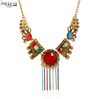 2017 Ethnic Colorful Boho Necklace Statement Jewelry Maxi Chunky Costume Jewellery On The Neck Designer Costume