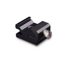 Adaptador de montaje de soporte de zapata de Flash de zapata de Metal con tornillo de trípode 1/4 a trípode con soporte para luz