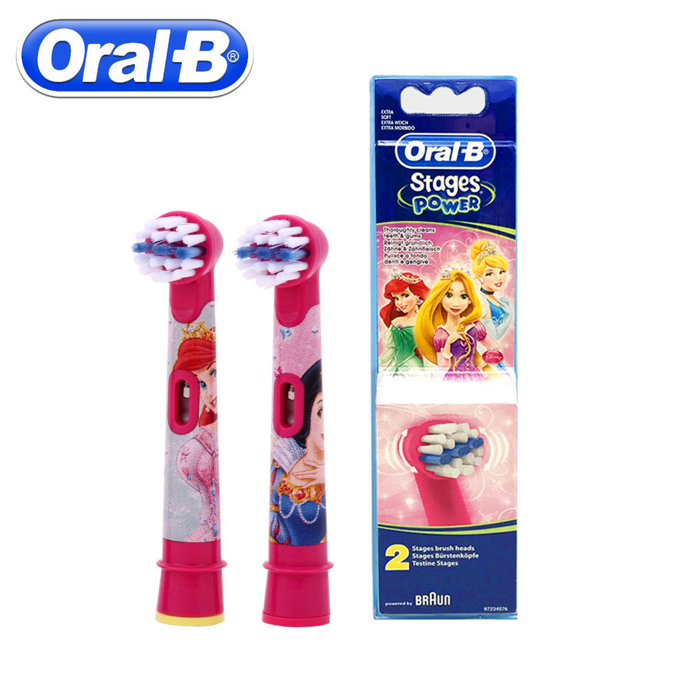 2pc/Pack Oral B Children Electric Brush Heads Cartoon Replacement Rotating Toothbrush Head Oral Hygiene Soft Brush Head For Kids 2