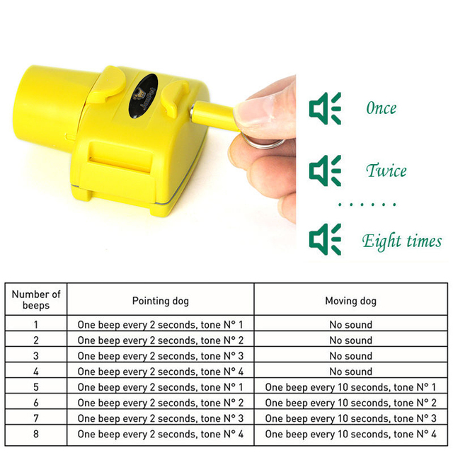 Yellow color hunting Dog Collar beeper  Dog Training Collar waterproof for small medium large dogs