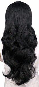 Женские длинные волнистые волосы QQXCAIW, черные, светло-коричневые, темно-коричневые, 68 см, синтетические волосы для косплея