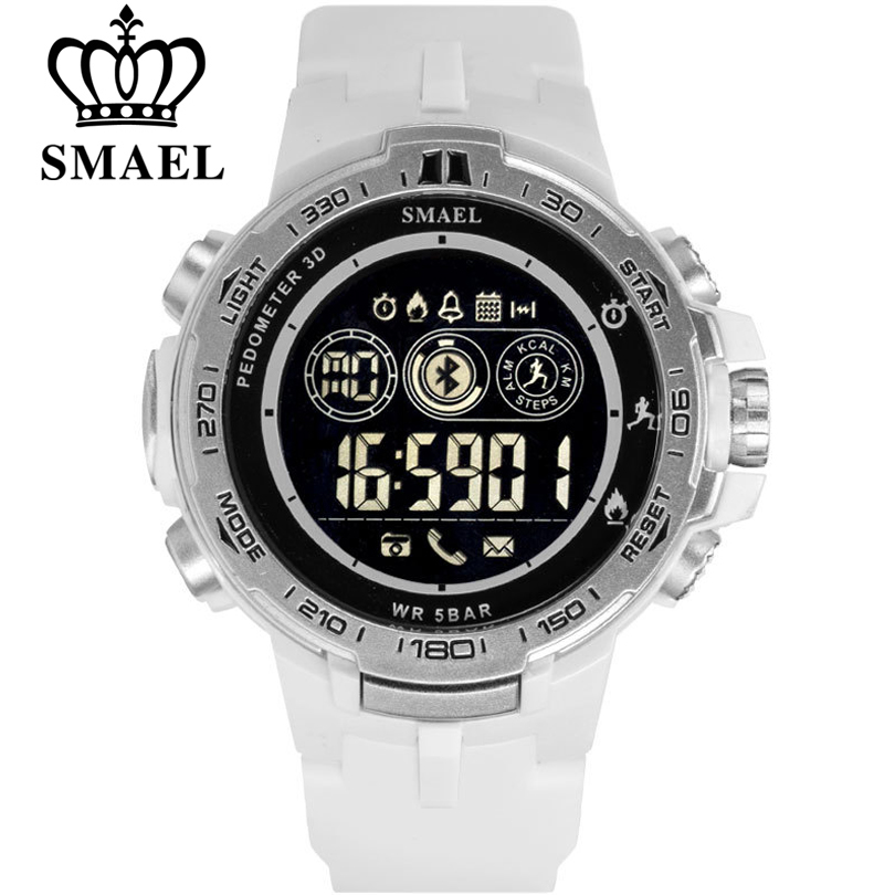SMAEL Sports Smart Digital Wristwatches Fashion Bluetooth Watch Men Pedometer Calorie Remote Camera LED Military Watches RelogioSMAEL Sports Smart Digital Wristwatches Fashion Bluetooth Watch Men Pedometer Calorie Remote Camera LED Military Watches Relogio