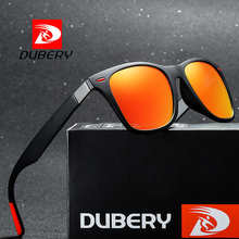 DUBERY Mens Polarized Driving Sunglasses Women Luxury Brand Designer Outdoor Sports Finishing Sun Glasses Square Mirror UV400
