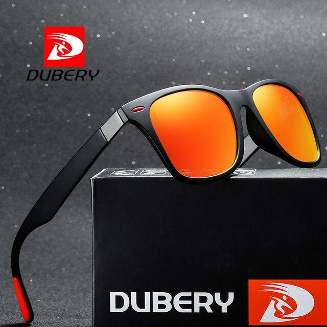 DUBERY رجل يستقطب القيادة النظارات الشمسية النساء الفاخرة العلامة التجارية مصمم الرياضة في الهواء الطلق التشطيب نظارات شمسية مربع مرآة UV400