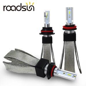 roadsun Car Lights LED H4 H7 H11 H1 H3 880 9005 9006 9007 H27 HB3 HB4 LED Headlight Bulb Auto Lamp CSP Chip Automotivo 12V 6000K(China)