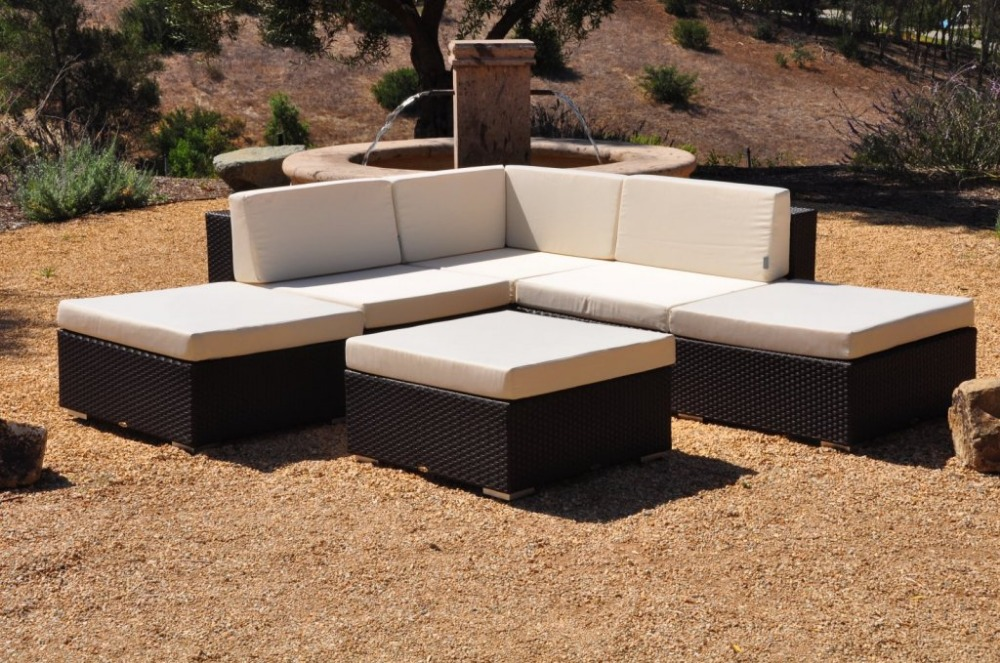 Hot Sale Wicker Patio Furniture Outdoor Rattan Sofa Sectional Corner Sofa  Set(China (Mainland