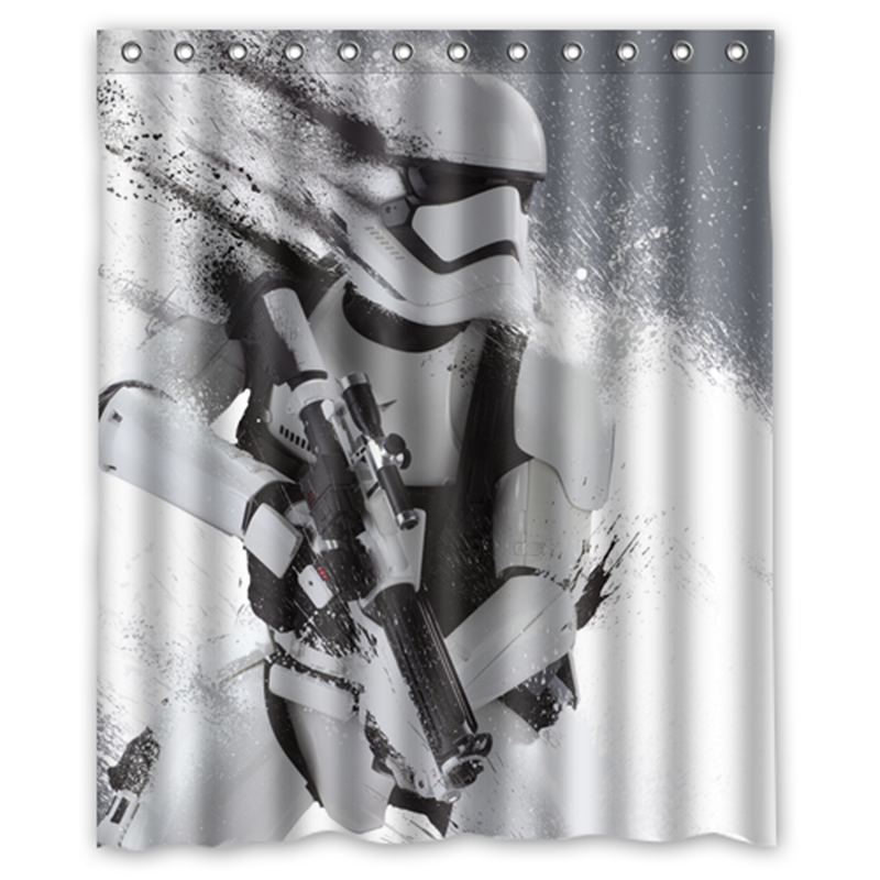 Star Wars Stormtrooper Custom Designer Fabric Curtain Bathroom Product Waterproof Shower Curtains In From Home Garden On Aliexpress