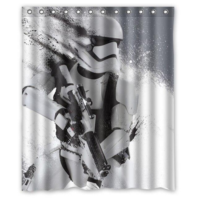 star wars stormtrooper custom designer tissu rideau salle de bains produit tanche rideaux de douche - Rideau Salle De Bain Tissu