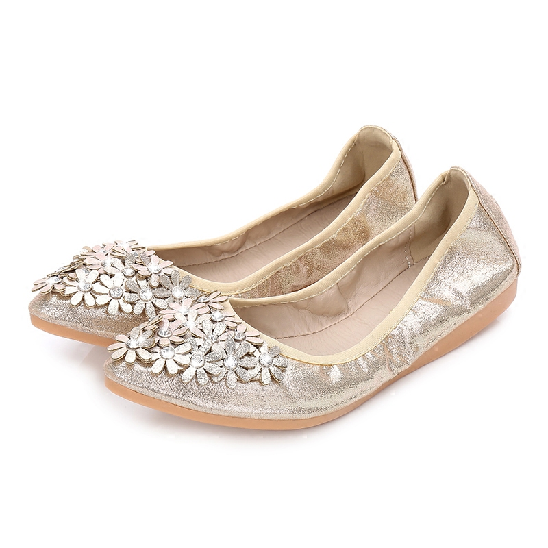 Women Ballet Flats Soft Comfort Wedding Shoes Bride Bridesmaid Guests Girls  Flexible for Drive Walking Dressy Travel Slip on-in Women s Flats from Shoes  on ... 2aed69ea9b25