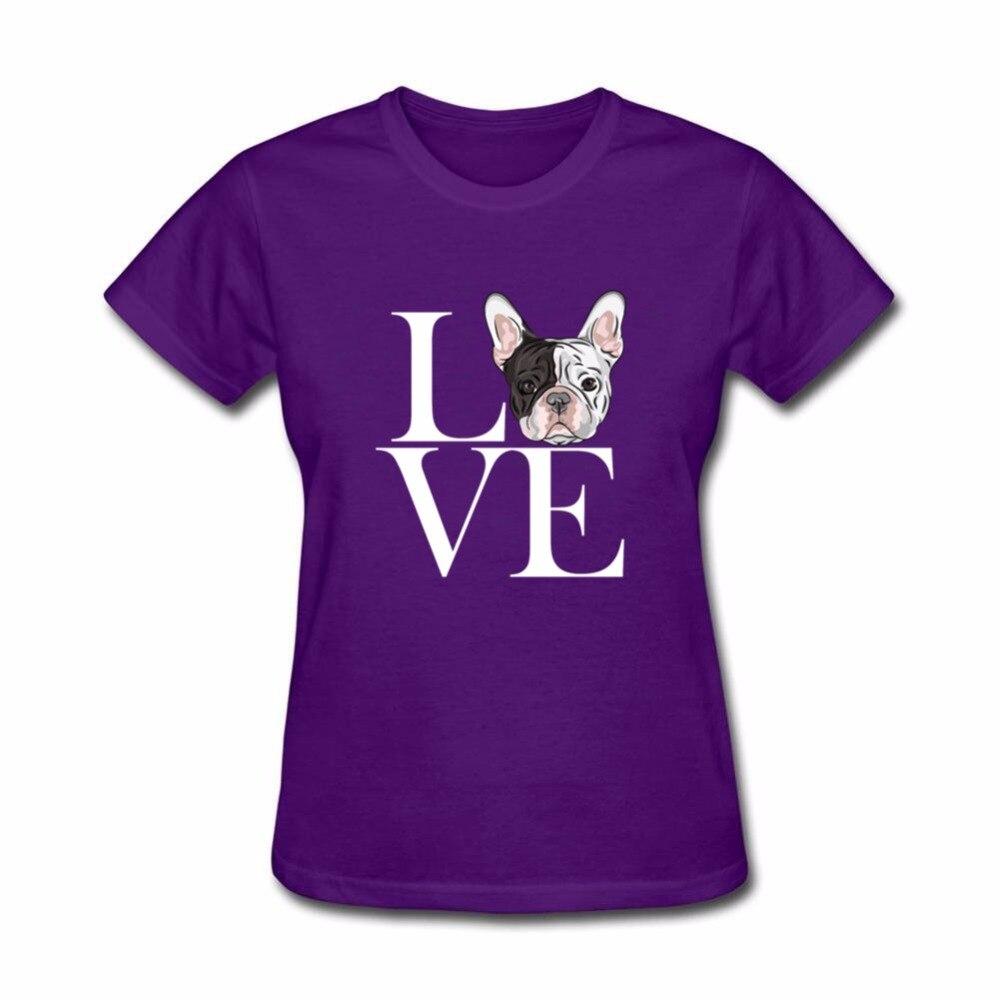 8e663125ba Dropshipping camiseta feminina french bulldog love T Shirt Women slim waist  Gog graphic tees Women Fitness Clothing Summer Tops-in T-Shirts from  Women s ...