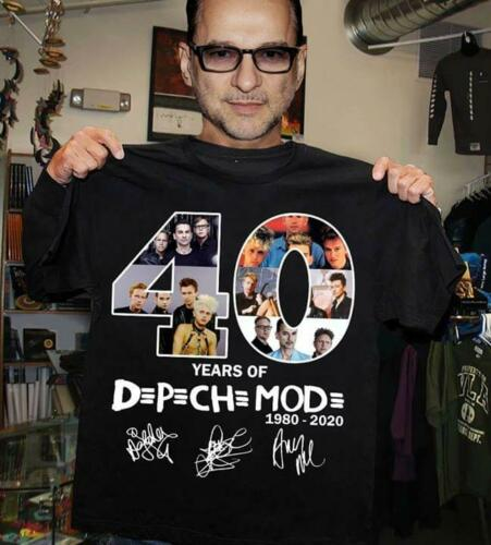 40 Years Of Depeche 1980 2020  Mode T Shirt Black Cotton Men S-3XL US Supplier