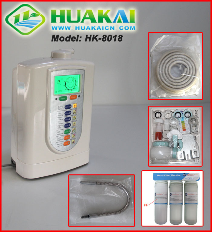 2015 The Most Popular Kangen Alkaline Water Ionizer Machine  HK-8018 For Better Health ouh bio alkaline water ionizer wth 803 for better life