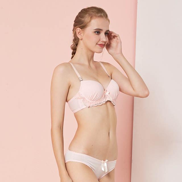 4308ba995d98e Ladychili Japanese Lace Design Plus Size Women Intimates Push Up Bra Set  Cute Lolita Girl Underwear