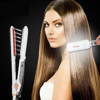 2019 Professional Ceramic Steam Hair Straightener Fast Heating Hair Flat Iron Vapor