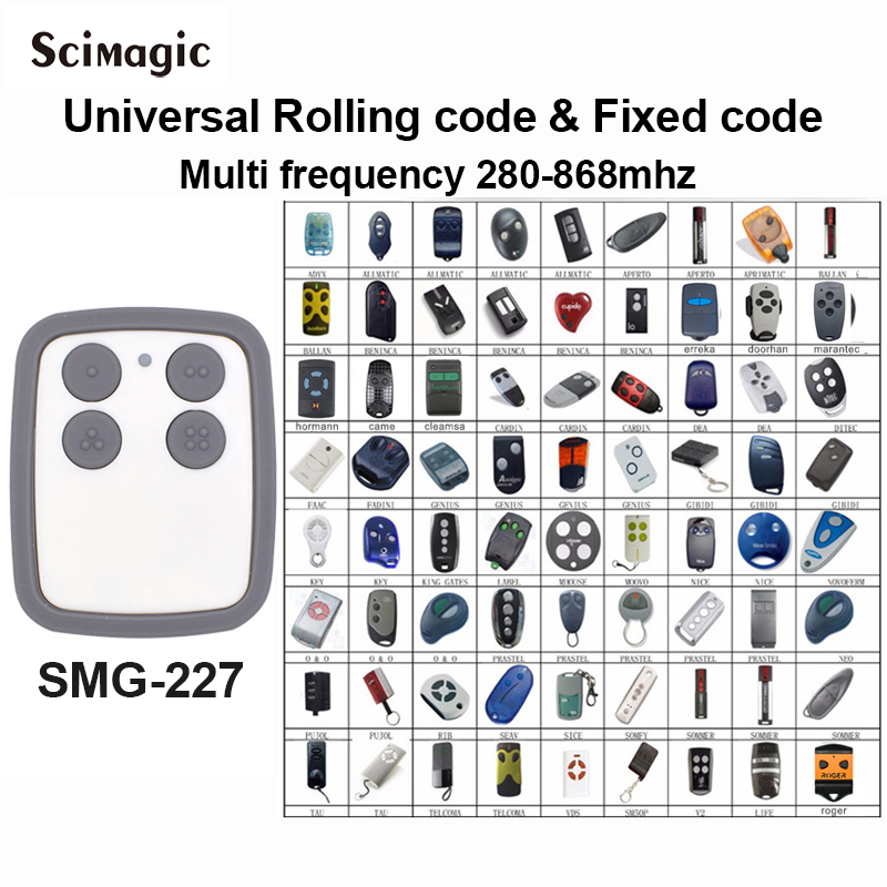 50 pcs Universel garage télécommande Multi Fréquence 280 MHz-868 MHz émetteur de poche garage commande de commande de grille