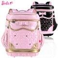 Barbie ortopédicos/ergonómico bolso de escuela primaria libros niño/niños mochila/cartera para las niñas para la clase/grade1-2