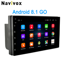 Navivox 2 Din Android Car Radio 7 Universal Car DVD GPS Player Android 8.1 Go Multimedia Navigation For Nissan Honda Toyota BYD