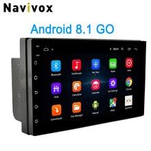 Navivox 2 Din Android автомобильный Радио 7 «Универсальный Автомобильный DVD gps плеер Android 8,1 Go Мультимедиа Навигация для Nissan Honda Toyota BYD