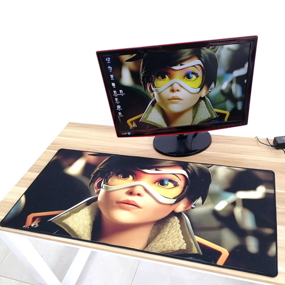900x400mm Large Gaming Mouse Pad For Gamers Players, Washable Big Computer Mousepad 4mm thickness for Overwatch, DIY Available