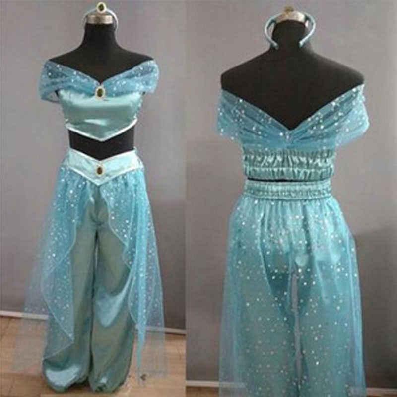 אלדין יסמין נסיכת קוספליי נשים ילדה פנסי להתלבש מסיבת תחפושות אוזניות