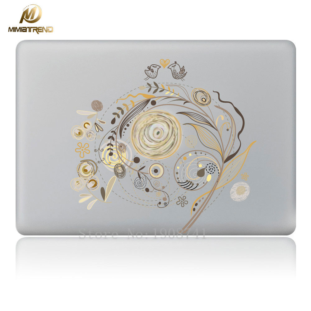 Mimiatrend Art Flowers Laptop Decal Sticker For Apple MacBook Air Pro Retina 11 13 15 Co ...