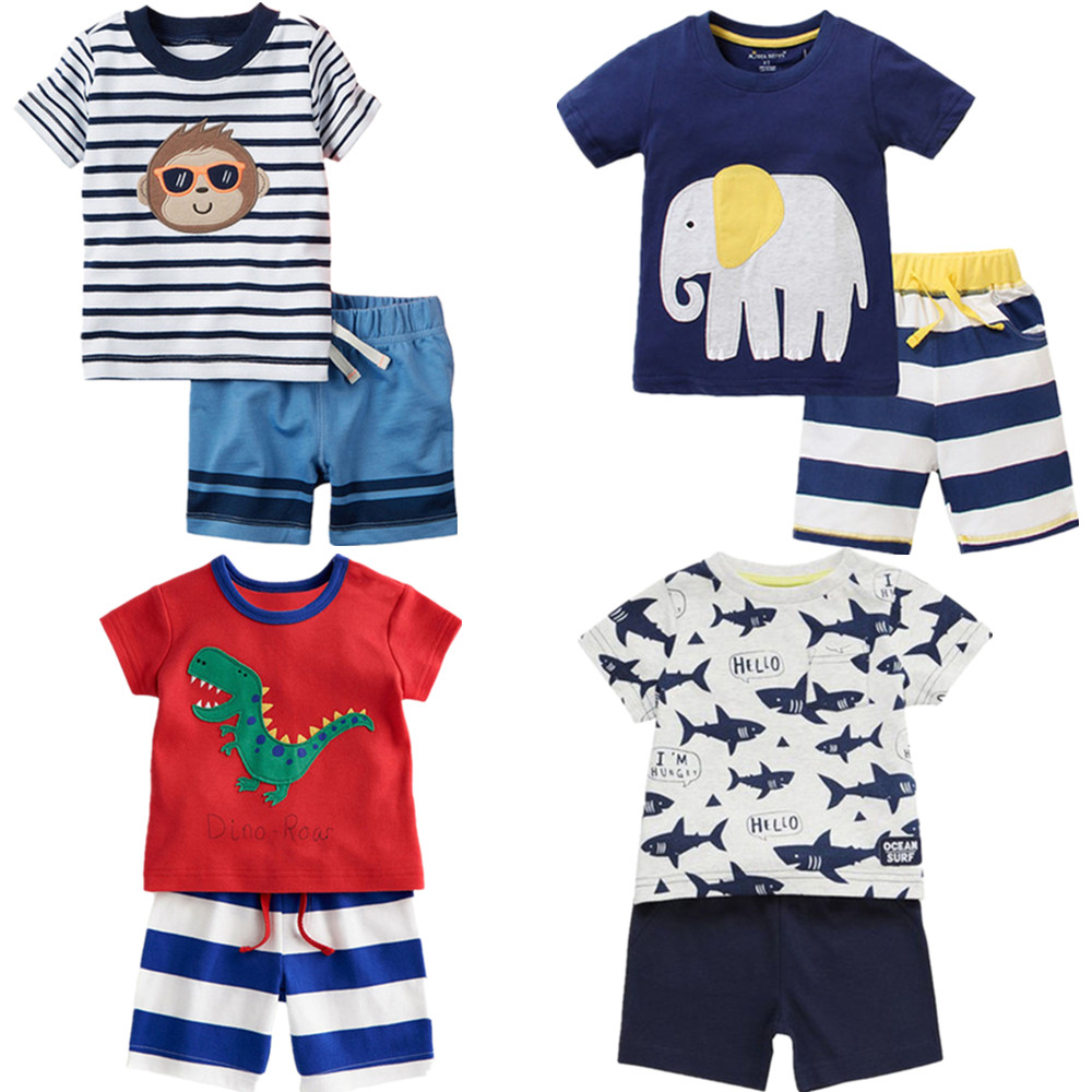 2017 New Summer Kids Clothes Children Clothing Baby Boy Clothes <font><b>Set</b></font> Toddler Baby Boys Clothing <font><b>Set</b></font> Cotton <font><b>Knitted</b></font> <font><b>Striped</b></font> Shorts