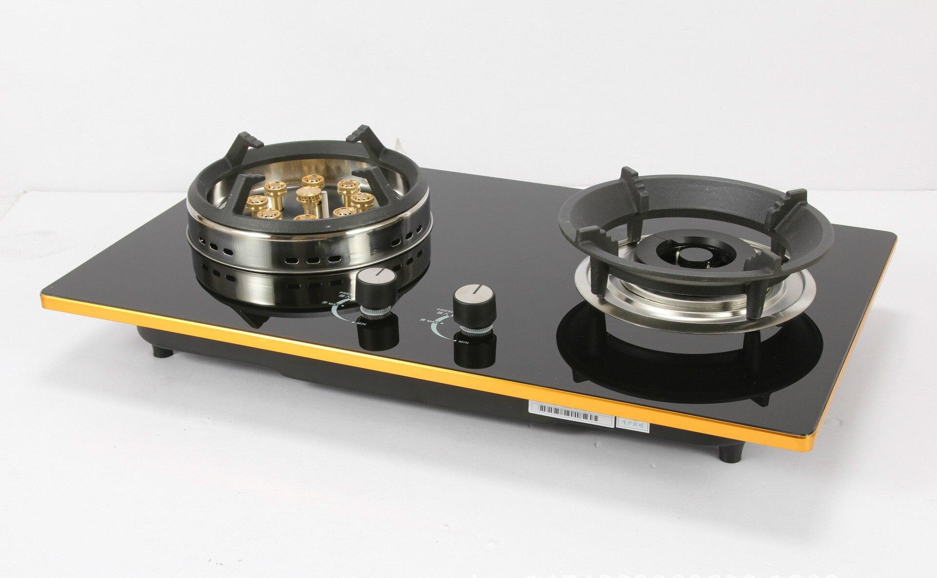 Livraison gratuite pièces cuisinière à gaz bloc véritable double usage ménage économie d'énergie gaz table de cuisson liquéfaction/gaz naturel