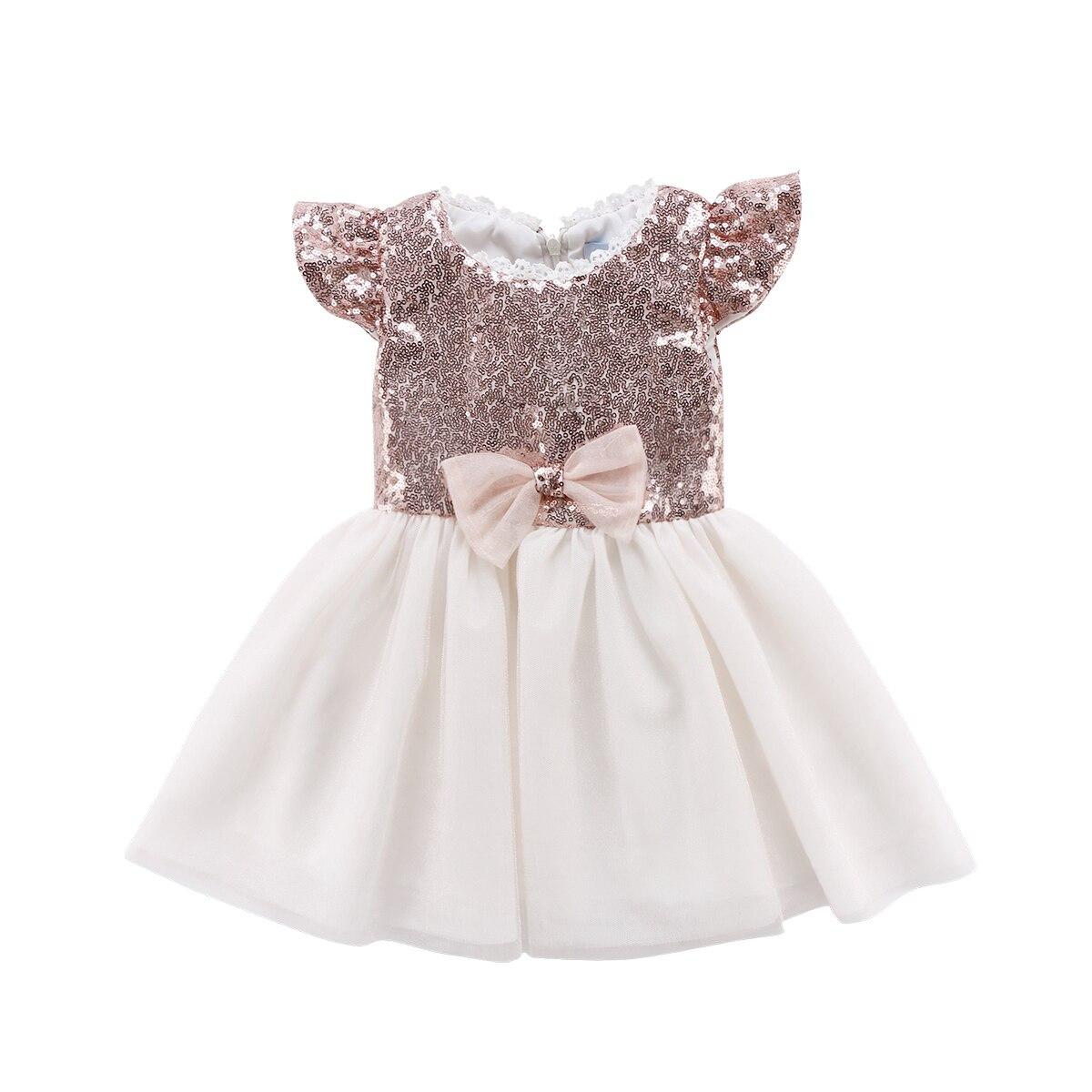 Новое поступление для малышей Детская одежда для девочек праздничное платье принцессы Тюль Мода Театрализованное Туту платья с блестками ...